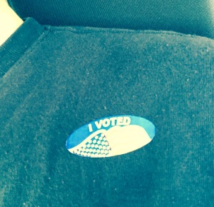 "When you vote, you'll get an ""I voted"" sticker."
