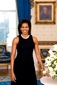 Official First Lady Michelle Obama portrait.